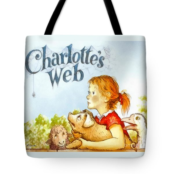 Tote Bag featuring the painting Charlottes Web by Elizabeth Coats