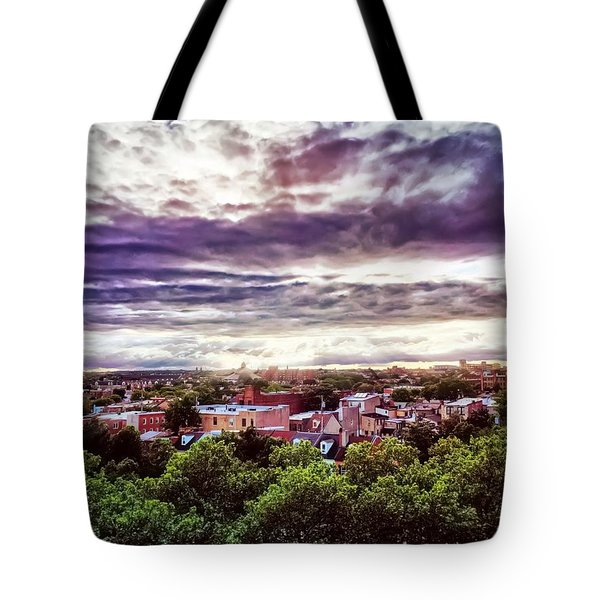 Charm City Sunset Tote Bag