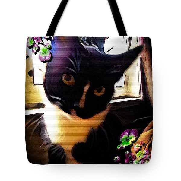 Charmed By My Beloved Cat Tote Bag