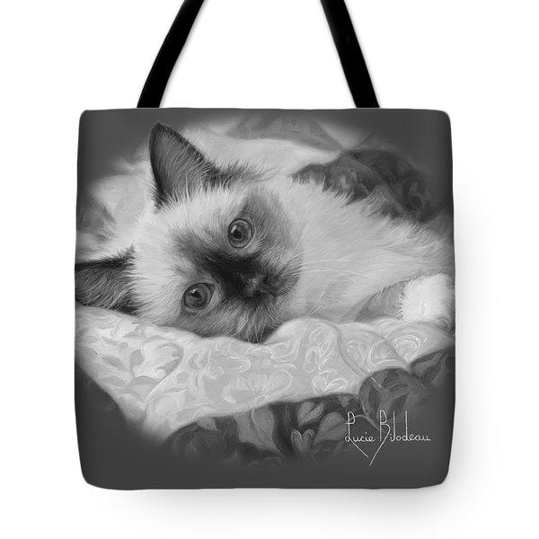 Charming - Black And White Tote Bag