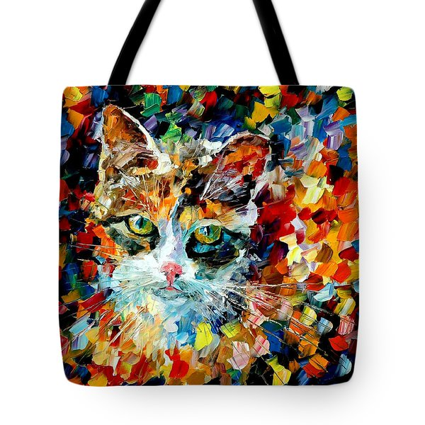 Charming Cat Tote Bag by Leonid Afremov