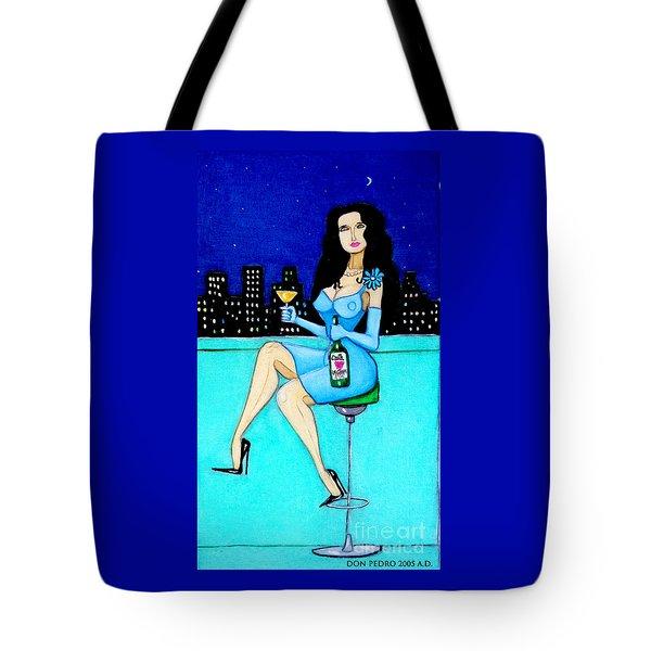 Charming Lady At Night Tote Bag
