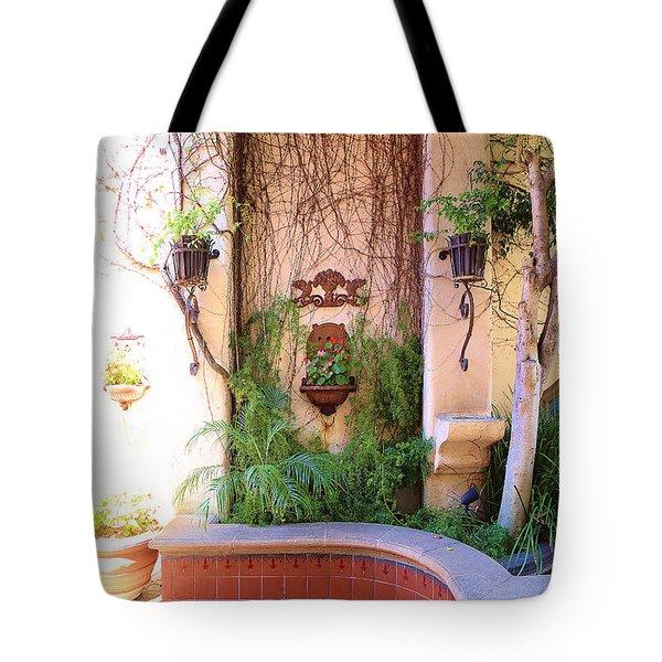 Charming Santa Barbara Corner Tote Bag