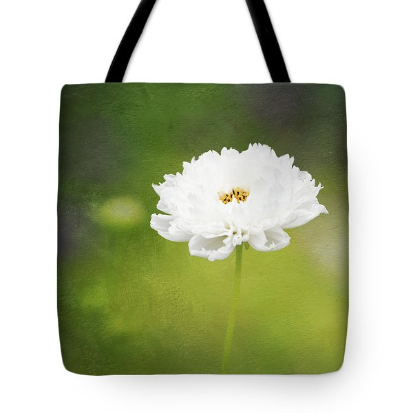 Charming White Cosmos Tote Bag