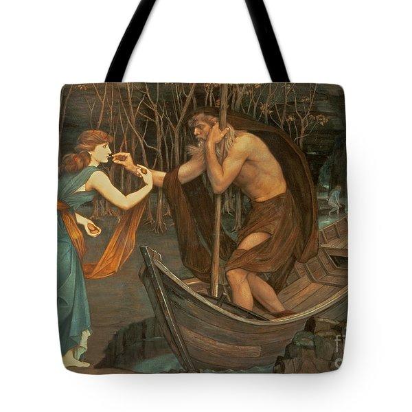 Charon And Psyche Tote Bag