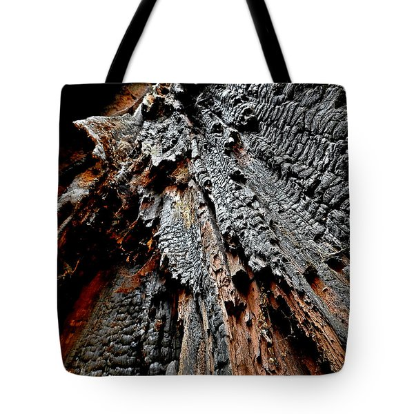 Charred Cedar Tote Bag