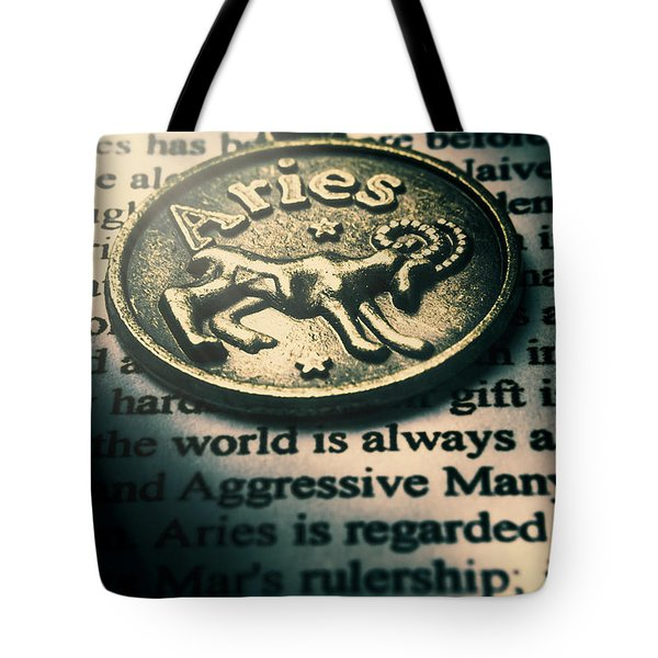 Charting In Aries Tote Bag