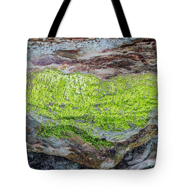 Chartreuse Abstraction Tote Bag