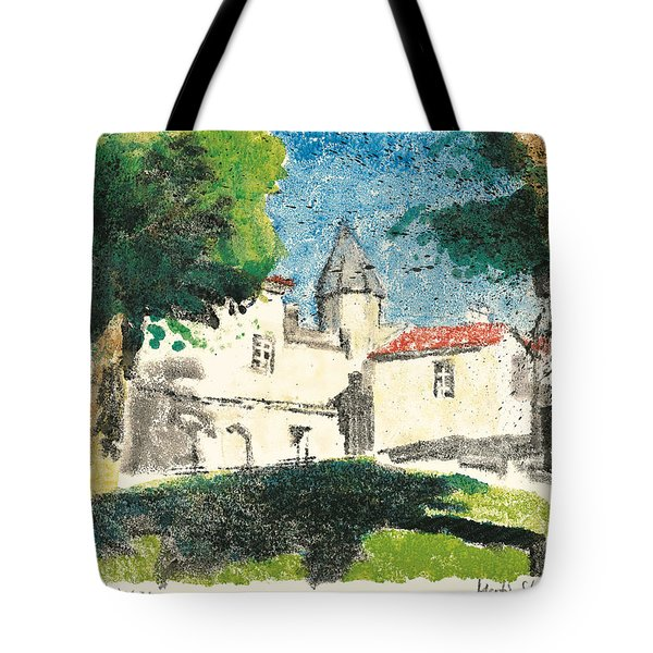 Tote Bag featuring the painting Chartreuse Avignon by Martin Stankewitz