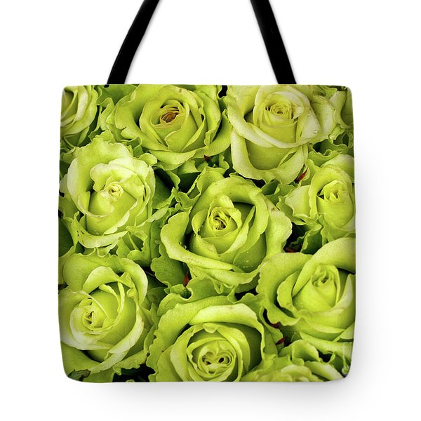 Chartreuse Colored Roses Tote Bag