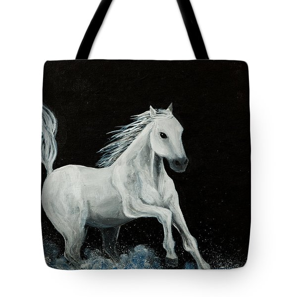 Tote Bag featuring the painting Chase by Elizabeth Mundaden