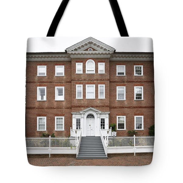 Chase Lloyd House In Annapolis Maryland Tote Bag by Brendan Reals