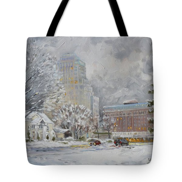 Chase Park Plaza In Winter, St.louis Tote Bag