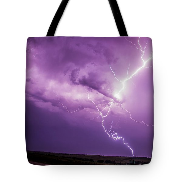 Chasing Nebraska Lightning 018 Tote Bag