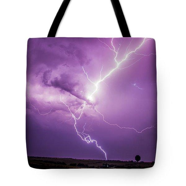 Chasing Nebraska Lightning 018 Tote Bag