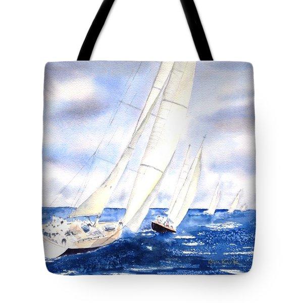 Chasing The Fleet Tote Bag