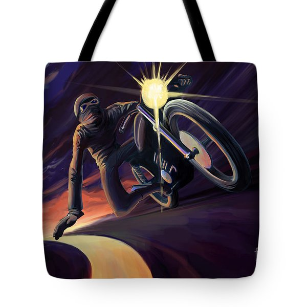 Chasing The Line Speed Racer Tote Bag
