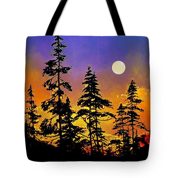 Chasing The Moon Tote Bag by Hanne Lore Koehler