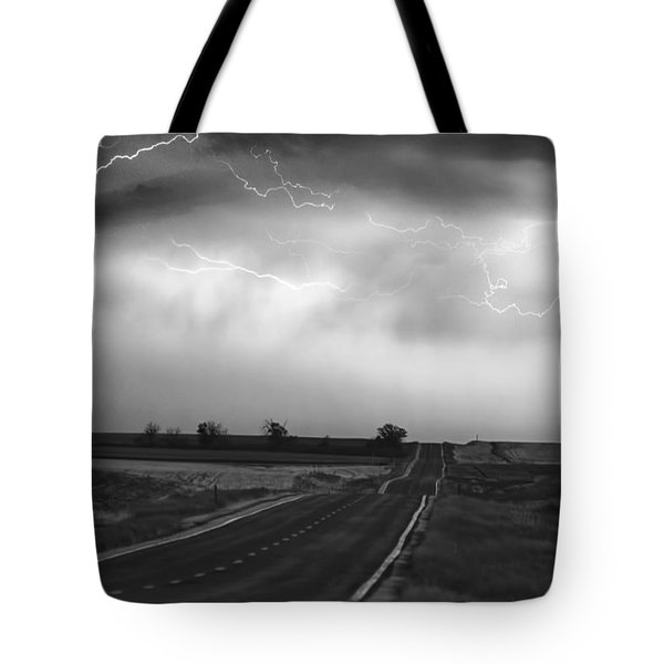 Chasing The Storm - County Rd 95 And Highway 52 - Colorado Tote Bag by James BO  Insogna