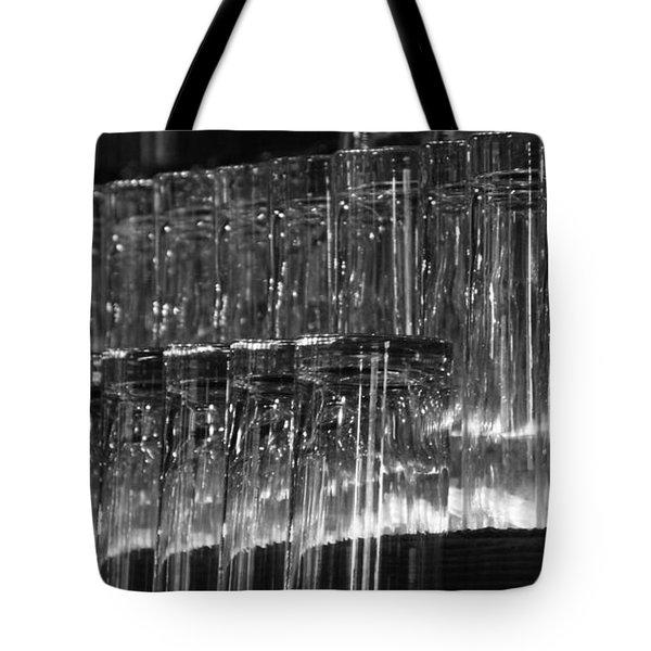 Chasing Waterfalls - Bw Tote Bag