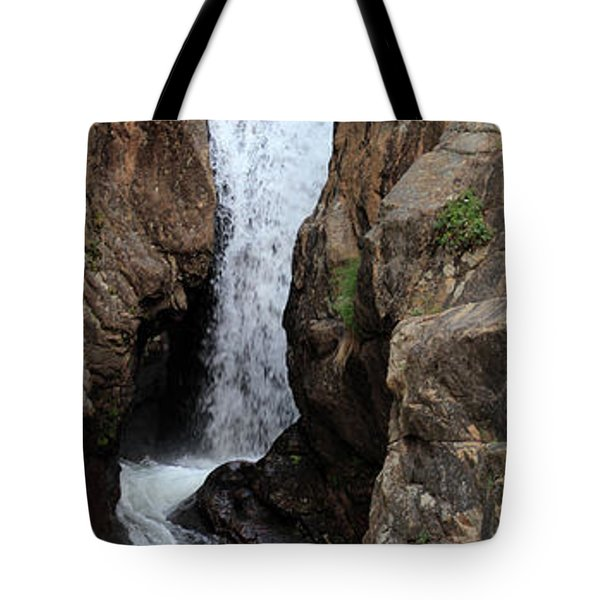 Tote Bag featuring the photograph Chasm Falls 2 - Panorama by Shane Bechler