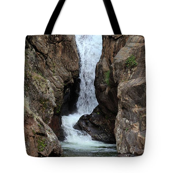 Tote Bag featuring the photograph Chasm Falls - Panorama by Shane Bechler