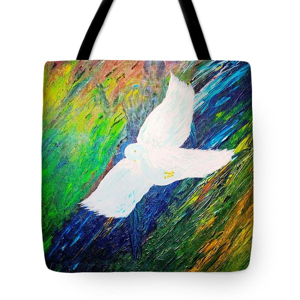 Tote Bag featuring the painting Chaste by Piety Dsilva