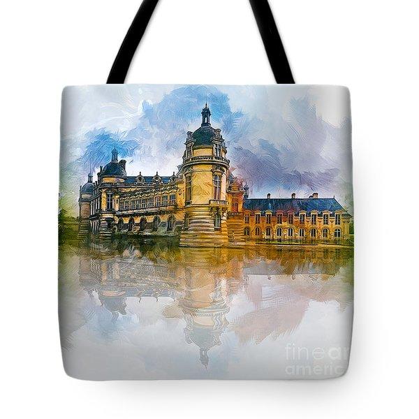 Chateau De Chantilly Tote Bag