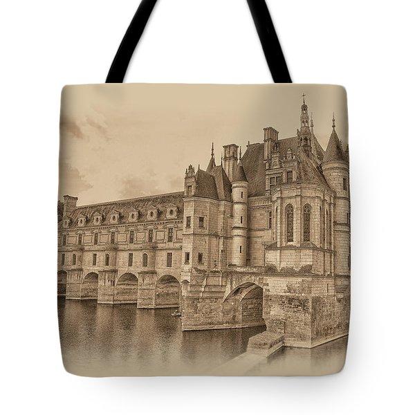 Chateau De Chenonceau Tote Bag by Nigel Fletcher-Jones