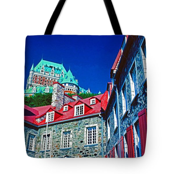 Chateau Frontenac Tote Bag by Dennis Cox