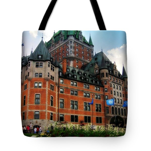 Tote Bag featuring the photograph Chateau Frontenac by Robin Regan