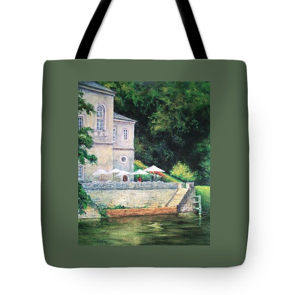 Chateau On The Lot River Tote Bag