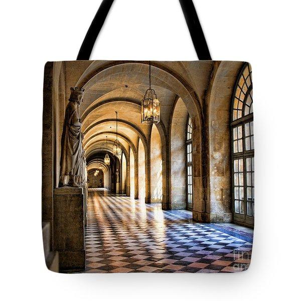 Chateau Versailles Interior Hallway Architecture  Tote Bag