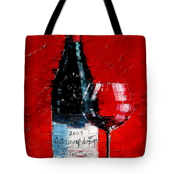 Still Life With Wine Bottle And Glass I Tote Bag
