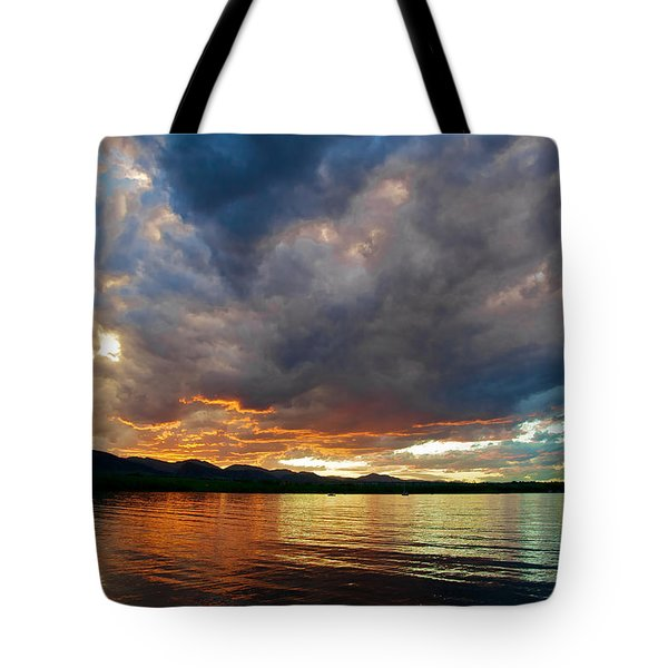 Chatfield Technicolor Sunset Tote Bag