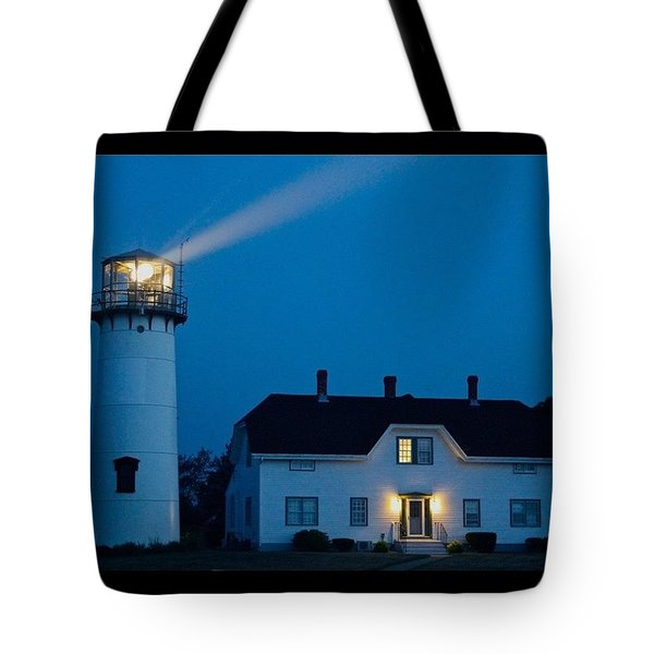 Chatham Light At Twilight Tote Bag