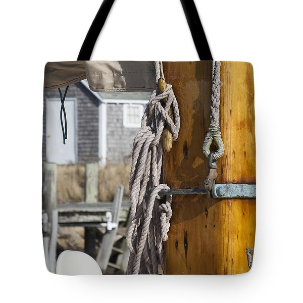 Tote Bag featuring the photograph Chatham Old Salt by Charles Harden