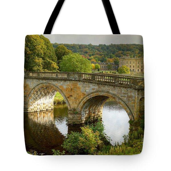 Chatsworth House And Bridge Tote Bag