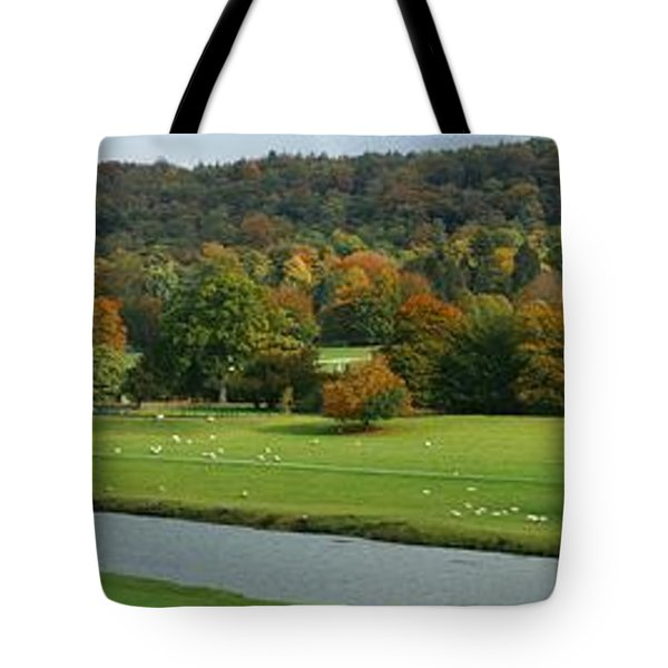 Tote Bag featuring the photograph Chatsworth Panorama by David Birchall