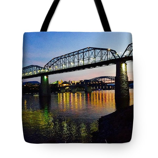 Tote Bag featuring the photograph Chattanooga Nites by Steven Lebron Langston