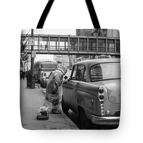 Chatting Up A Cabby On 7th Street Tote Bag