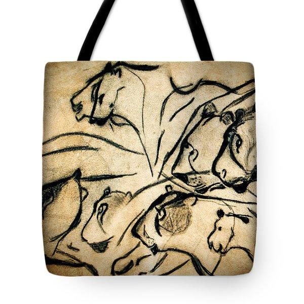Chauvet Cave Lions Tote Bag