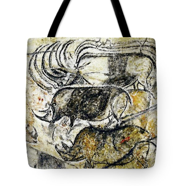 Chauvet Three Rhinoceros Tote Bag