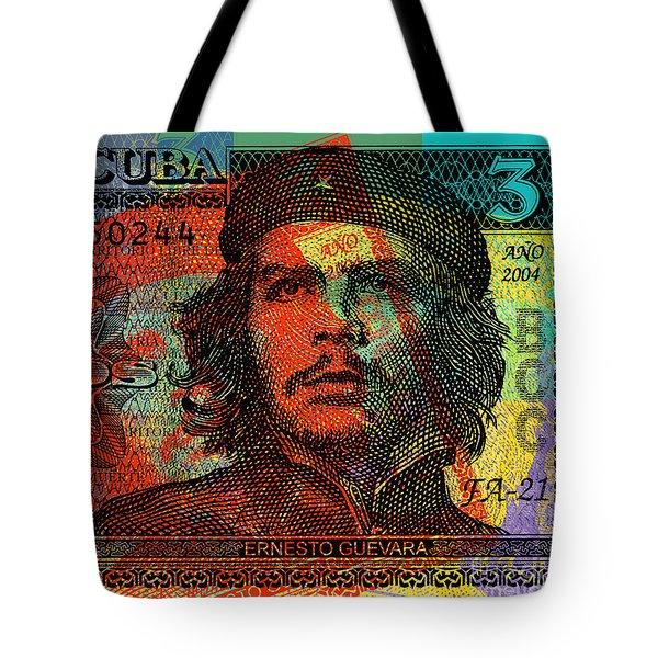 Che Guevara 3 Peso Cuban Bank Note - #1 Tote Bag
