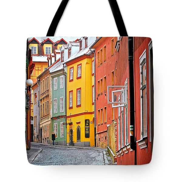 Cheb An Old-world-charm Czech Republic Town Tote Bag by Christine Till
