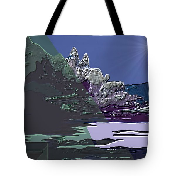 Tote Bag featuring the digital art 1978 - Nowhere  by Irmgard Schoendorf Welch