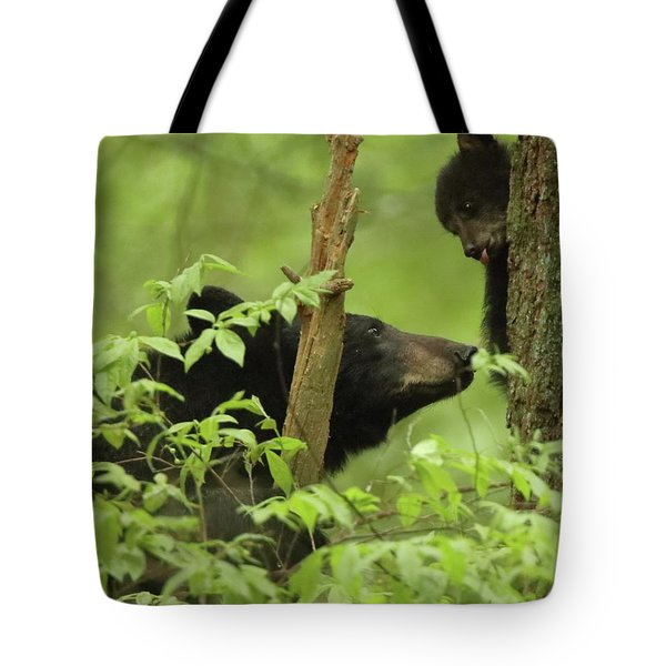 Tote Bag featuring the photograph Check This Out Mom by Coby Cooper