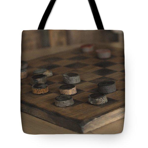 Checker Tote Bag