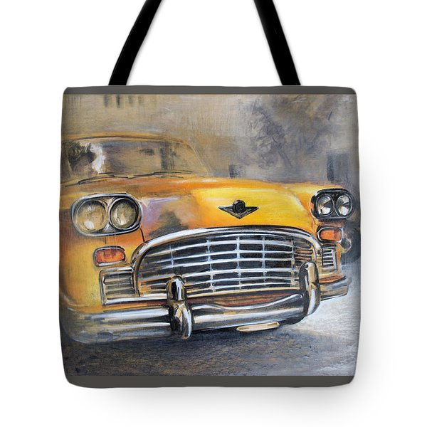 Checker Taxi Tote Bag