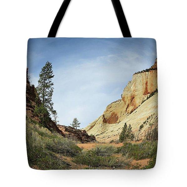 Checkerboard Mesa Tote Bag